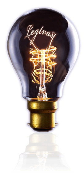 Lamp met legtvast als gloeidraad